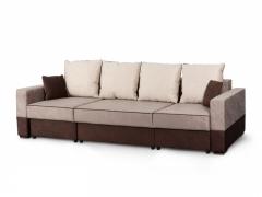 Диван-кровать Бостон 2800 Вариант 1 Бежево-коричневый велюр