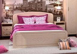 Кровать 1600 КР 912 белфорт/МДФ жемчуг